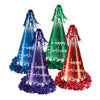 Fringed Foil Happy Birthday Party Hats - assorted colors