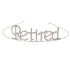 Beistle Retired Royal Rhinestone Tiara (Pack of 6) - Retirement Party Supplies