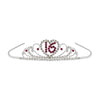 Beistle Sweet 16 Royal Rhinestone Tiara (Pack of 6) - Popular Themes, Sweet Sixteen Party Theme