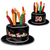 Plush 50 Over-The-Hill Birthday Cake Hat