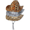 Animal Print Cowboy Hats - assorted leopard, tiger, zebra