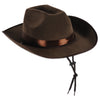 Western Party Supplies - Faux Brown Leather Western Hat
