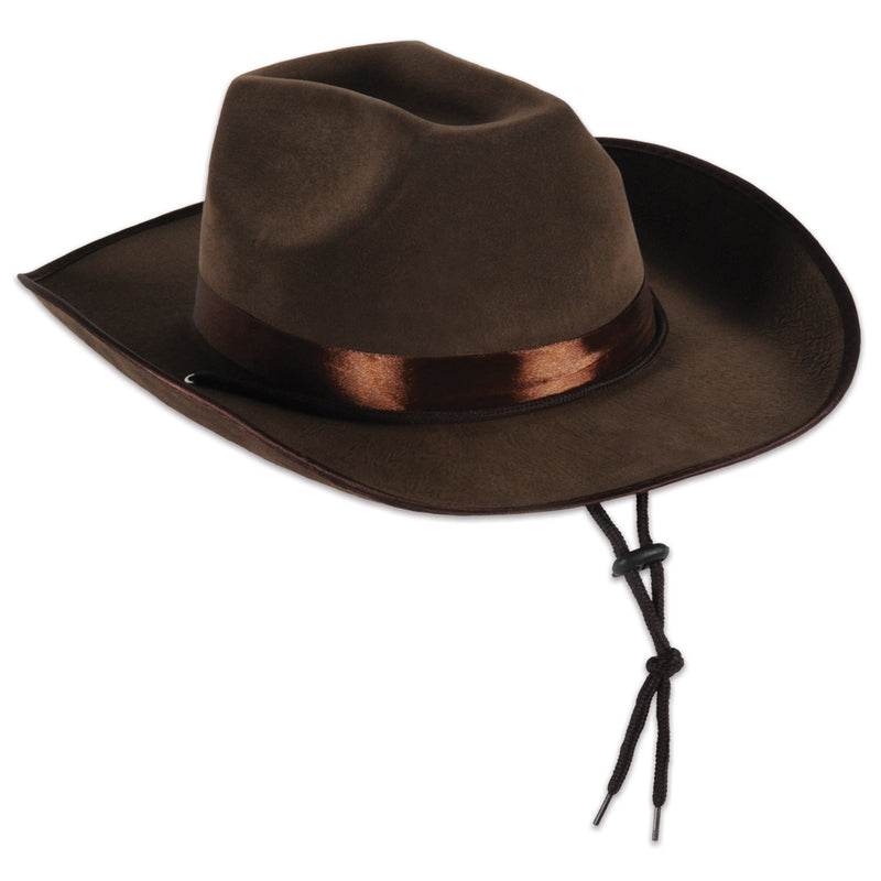 2f00dc5f4e30b (6 Case) Beistle Western Party Faux Brown Leather Western Hat - Bulk Party  Supplies