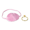 Pink Pirate Eye Patch with Plastic Gold Earring