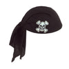 Pirate Party Supplies - Pirate Scarf Hat - black