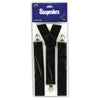 Roaring 20's Black Suspenders - adjustable