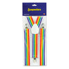 Party Accessories - Rainbow Suspenders - adjustable