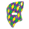 Phantom Mask Golden Yellowith Green/Purple, party supplies, decorations, The Beistle Company, Mardi Gras, Bulk, Holiday Party Supplies, Mardi Gras Party Supplies, Mardi Gras Stuff to Wear, Mardi Gras Masks
