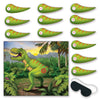 Beistle Pin The Tail On The Dinosaur Game (Pack of 24) - Dinosaurs Party Theme