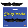 Hairy 'stache, black