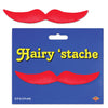 Hairy 'stache, red