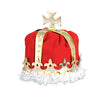 Medieval Party Supplies - Royal King's Crown - red