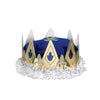 Medieval Party Supplies - Royal Queen's Crown - blue