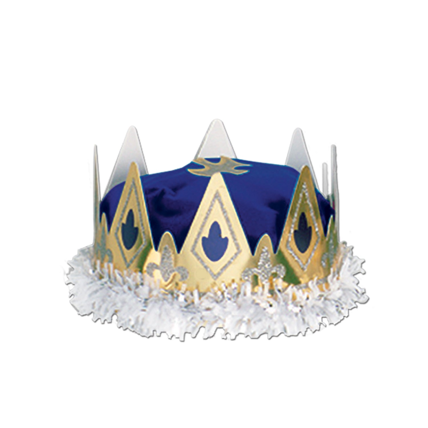 d52380c7211 12 Case) Beistle Medieval Party Royal Queen s Crown blue - Bulk ...