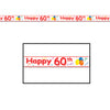 Birthday Party Supplies: Happy ''60th'' Party Tape