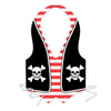 Pirate Party Supplies - Packaged Plastic Pirate Vest
