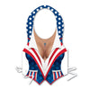 4th of July Party Supplies: Plastic Female Patriotic Vest