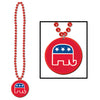 Beads with Republican Medallion