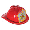 Red Plastic Fire Chief Hat with Silver Shield, party supplies, decorations, The Beistle Company, Fire Prevention, Bulk, Party Accessories, Party Stuff to Wear, Party Hats