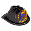 Black Plastic Fire Chief Hat, party supplies, decorations, The Beistle Company, Fire Prevention, Bulk, Party Accessories, Party Stuff to Wear, Party Hats