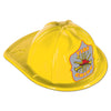 Party Costume Accessories: Yellow Plastic Fire Chief Hat