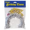 Pkgd Happy Birthday Tiaras with Fringe, party supplies, decorations, The Beistle Company, Birthday, Bulk, Birthday Party Supplies, Birthday Party Hats And Stuff to Wear