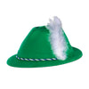 Oktoberfest Party Supplies - Green Velour Tyrolean Hat