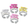 Birthday Tiaras with Fringe - assorted colors