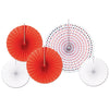 Beistle Assorted Paper & Foil Decorative Fans (12 packs) - Valentines Day Party Decorations, Valentines Day Party Supplies