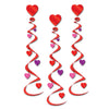 Valentine's Day Party Supplies - Heart Whirls