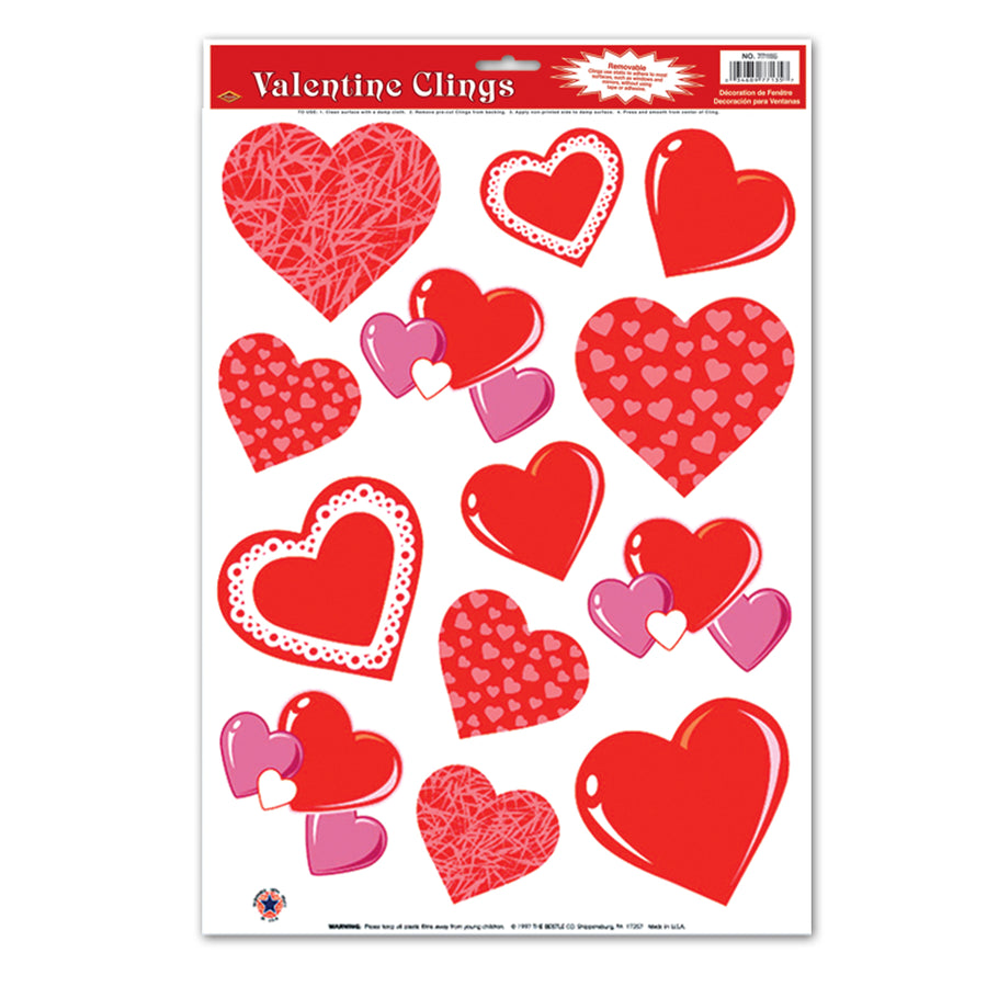 Valentines Day Party Supplies   Heart Clings