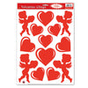 Valentines Day Party Supplies - Heart & Cupid Clings