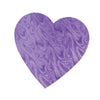 Embossed Foil Heart Cutout - purple