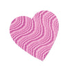 Embossed Foil Heart Cutout - pink