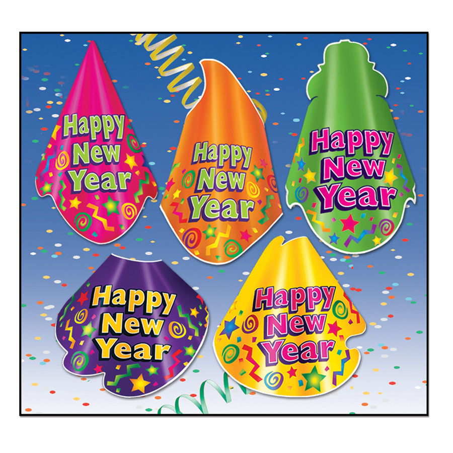 color brite hat new years eve party kit