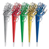 Packaged Tasseled Trumpet Noisemakers - assorted colors