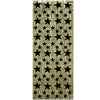 Gold with Black Star 1-Ply Fire Resistant Gleam 'N Curtain