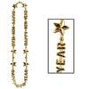 Happy New Year Beads-Of-Expression Necklace - gold