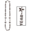 Happy New Year Beads-Of-Expression Necklace - silver