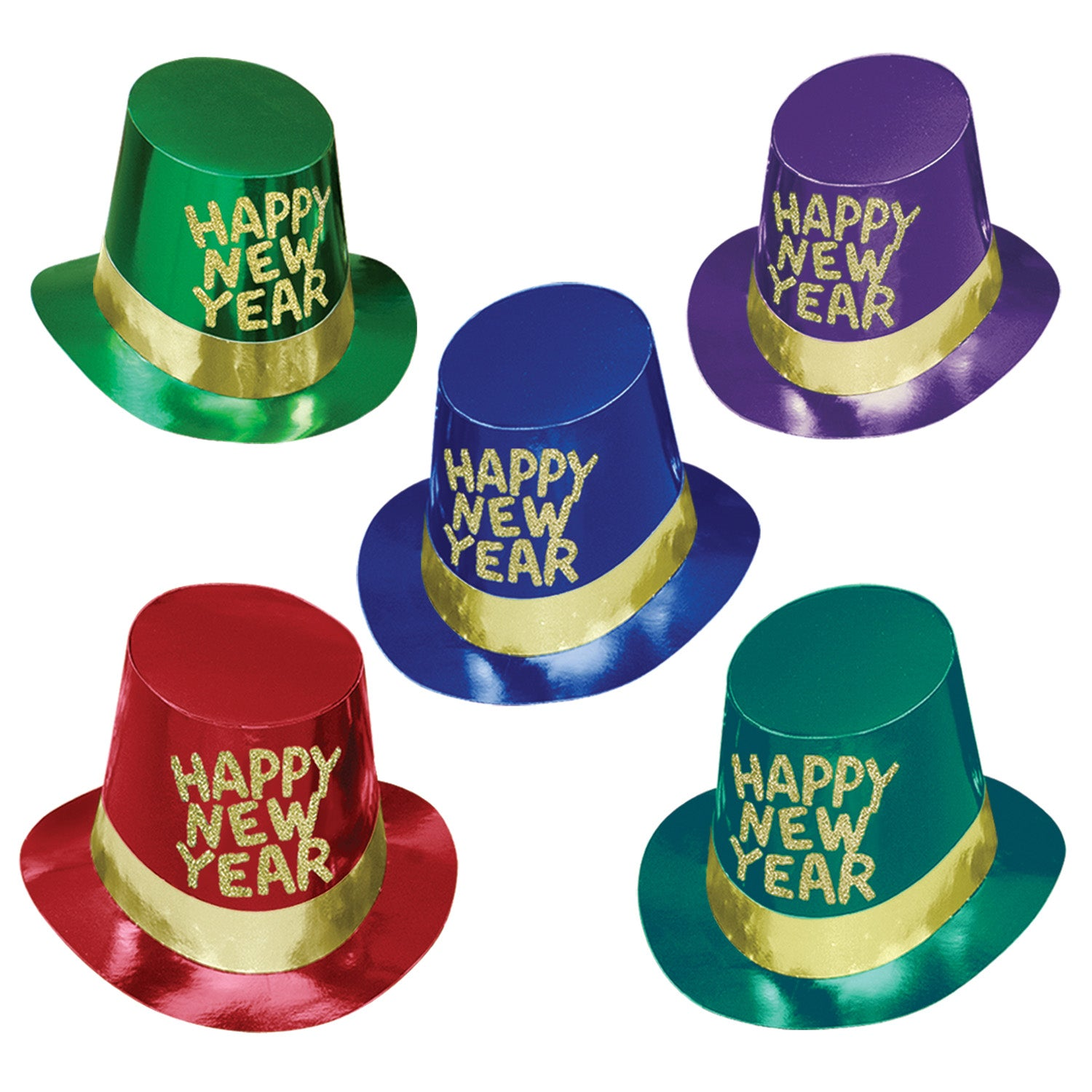 25 Case) Beistle Gold Coast New Years Party Hi-Hats - Bulk Party ... d8469f0a3ff7