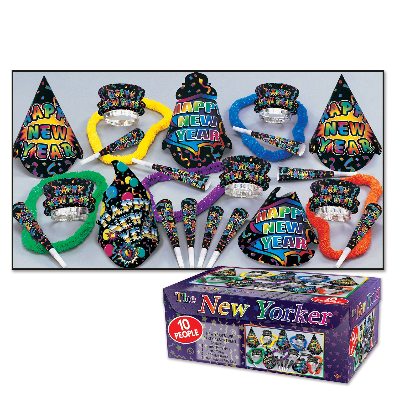 1 Assortment Per Package Beistle 88292-10 New Year Resolution Party Favors