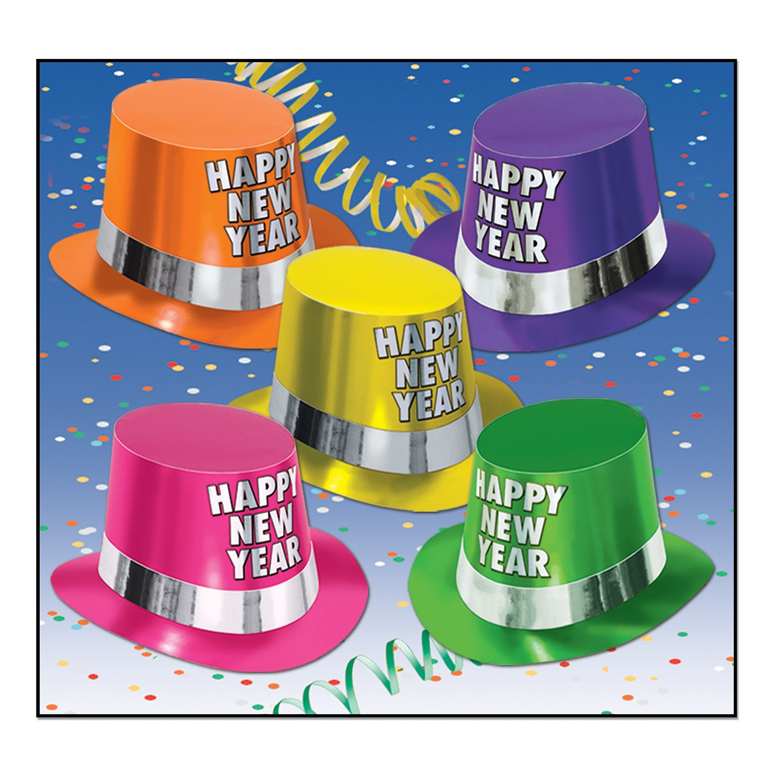 3bf707db3fc 25 Case) Beistle Fluorescent New Years Party Hi-Hats