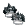 Sparkling Silver New Year's Eve Tiaras, black & silver