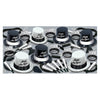Black & White Legacy New Years Eve Party Kit for 50 People