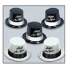 Black & White Legacy New Years Party Topper Hats