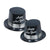 Silver Legacy Topper Hat black & silver (25/Case)