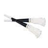 Black New Years Party Horns with White Tassel
