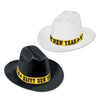 Western Nights Cowboy Hats - assorted black & white