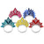 Princess New Year's Eve Tiaras assorted colors (50ct)
