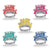 Happy New Year Tiaras assorted colors (50ct)